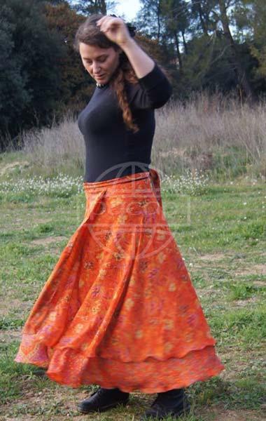 Jupe-gypsie-longue-orange-portefeuille-pacap-grossiste