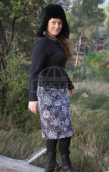 reversible skirt Cotton one size fits all winter Reversible pressure skirt fall-winter collection-Pacap Diffusion