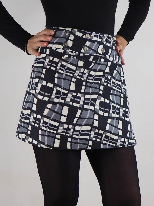 grossiste jupe reversible portefeuille taille réglable multi taille bouton pression jupe droite jupe plissée jupe trapèze