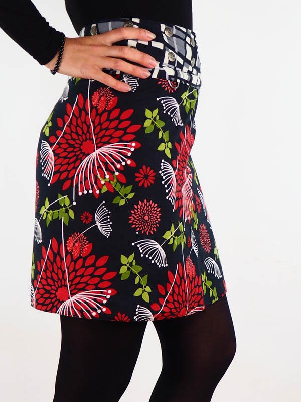 grossiste jupe reversible grossiste jupe reversible portefeuille midi coton la jupe avec zip et poche amovible 8 façons de la porter taille haute taille basse jupe trapeze grossiste vetement ethnique femme