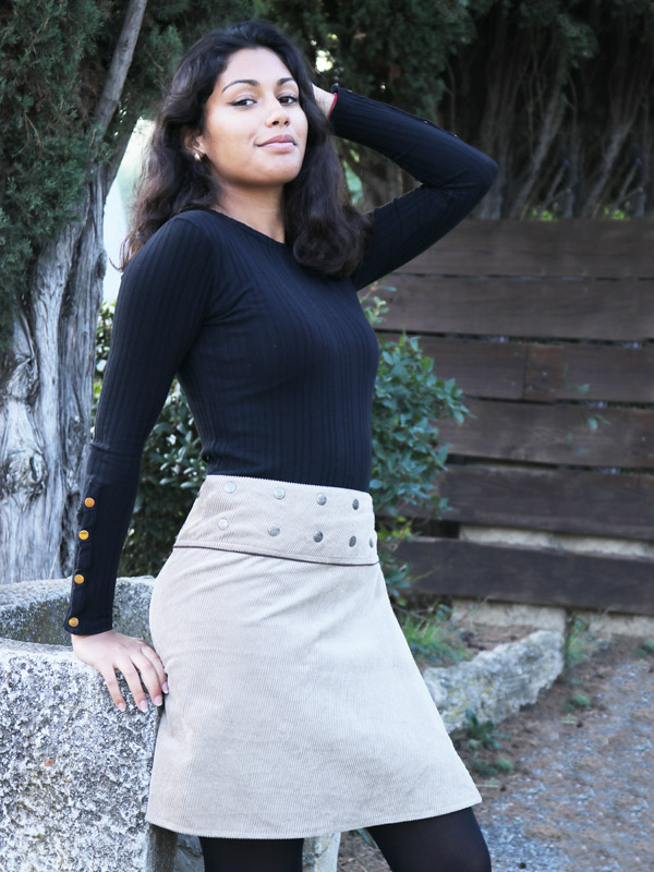 grossiste paris aubervilliers marseille vetement ethique et ethnique collection mode femme pas cher jupe reversible portefeuille courte midi longue coton velours collection été hiver